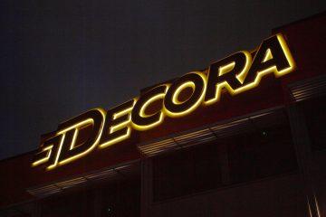 Valomainoskirjaimet profiili 3 - Decora taustvalgustusega tähed 2