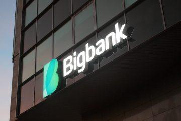 Valomainoskirjaimet profiili 6 - Bigbank ettevalgustuvad logo ja tähed 16