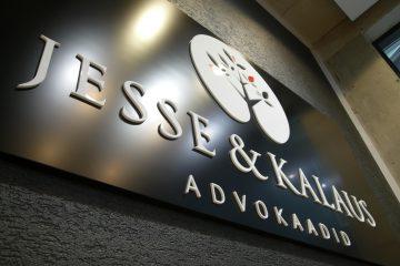 kirjaimet profiili 00 - Jesse & Kalaus logo 10 mm valgest akrüülist 6