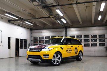 Autojen yliteippaus - Norra taksode ülekleepimine firma värvidesse