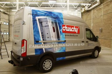 Digitaalitulostus - Duschy kaubikule trükitud kleebised