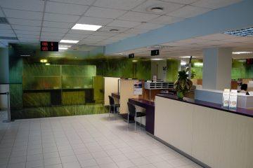 Digitaalitulostus - Eesti Haigekassa kontori klaasvaheseinte katmine trükitud kleebistega
