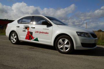 Digitaalitulostus - Firma LHV Liising sõiduautode kiletamine trükitud kleebistega