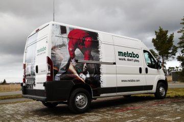 Digitaalitulostus - Metabo demobussi katmine trükitud kleebistega 1