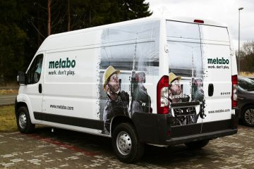 Digitaalitulostus - Metabo demobussi katmine trükitud kleebistega 2
