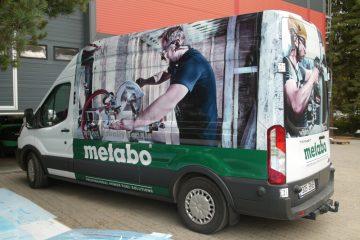 Digitaalitulostus - Metabo tööriistabussi katmine trükitud kleebistega 3