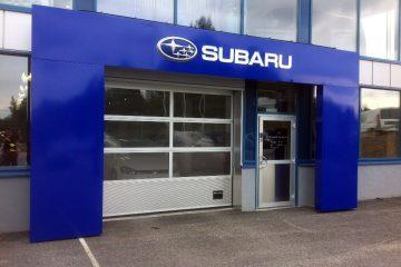 Portit -Subaru valgustatud logoga ukseportaal2