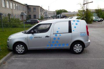 Teippaukset - Elektrilevi sõidukite kiletamine firmagraafikasse 2