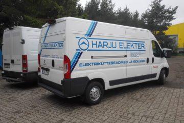 Teippaukset - Harju Elektri kaubikute kiletamine firmagraafikasse1