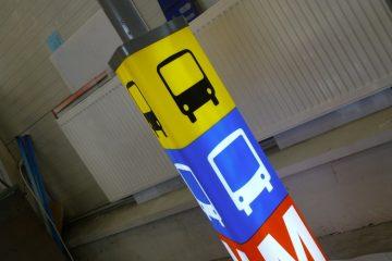 Valokuutiot - Helsingi metroojaama valguskolmnurk 2