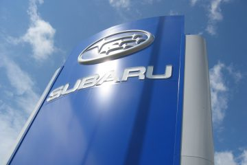 Valomainospylväät - Subaru reklaamtorn 4